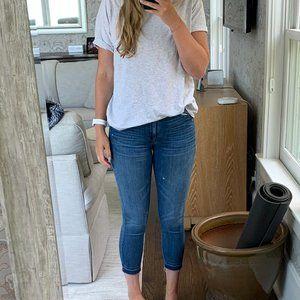 J. CREW High-rise Toothpick Crop Jeans